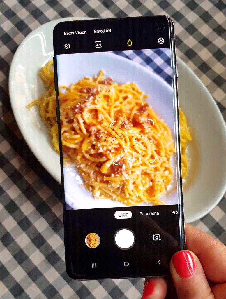 Scatto Carbonara con Samsung Galaxy S10